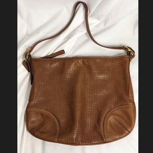 Coach   Tan Leather Large Shoulder Bag